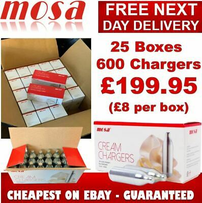 Cream Chargers N2O NOZ NOS MOSA Canisters Nitrous Oxide Whipped Cream Next Day