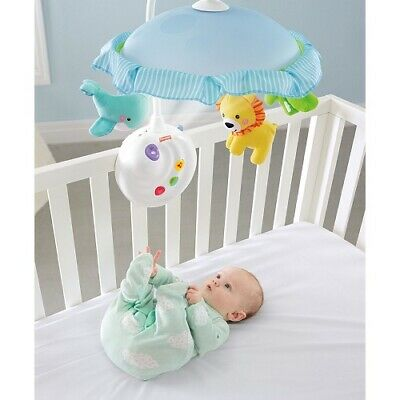 Baby Infant Projection Shooting Mobile Crib Light Child Nursery Cradle Toy Music