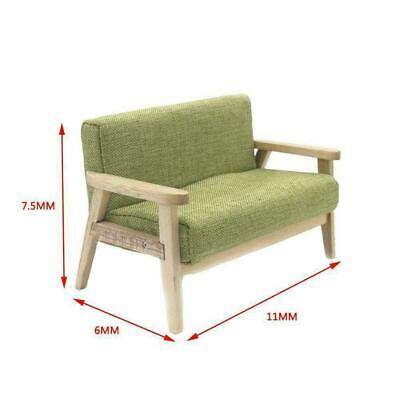 1:12 Dollhouse Miniature Furniture Wood Double Sofa Couch Model Japanese-st T0S3