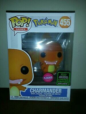 Funko Pop! Pokemon Charmander Flocked 2020 ECCC Convention Exclusive 455 In Hand