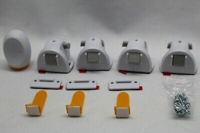 Safety 1st Adhesive Magnetic Child Safety Lock System 1 Key 4 locks 3 connectors