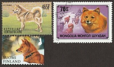 FINNISH SPITZ ** Int'l Dog Postage Stamp Art Collection **Great Gift Idea**