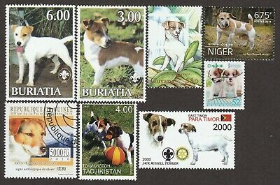 JACK RUSSELL TERRIER **Int'l Dog Postage Stamp Art Collection** Unique Gift **