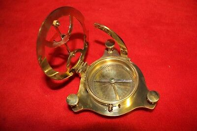 Brass Sundial with Compass Polished