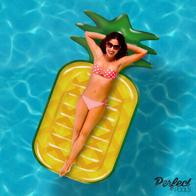 PREMIUM 'Perfect Pools' GIANT Inflatable Pineapple Lilo Pool Float Holiday Toy
