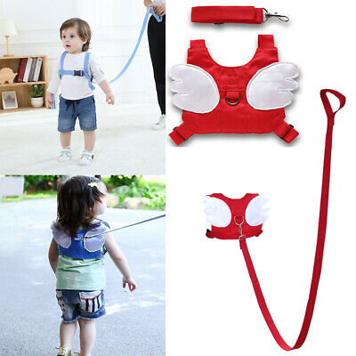 Baby Reins Walking Safety Harness Adjustable Toddler Kids Straps Anti-Lost Wings