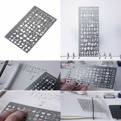 Fittoway Stainless Steel Portable Drawing Graffiti Template Stencils,...