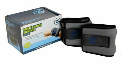 Fitness Mad Ankle/ Wrist Weights For Cuff/Leg Strap Running Boxing Straps x2 1KG
