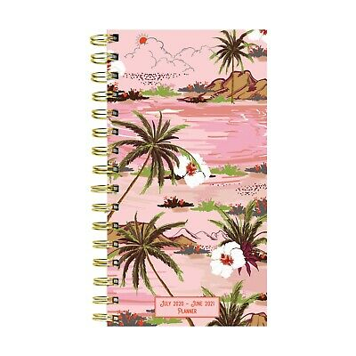 July 2020 - June 2021 Aloha Print Small Daily Weekly Monthly Planner