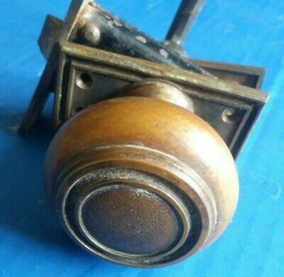 Vintage Brass Door Knobs with Latch