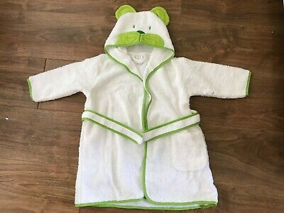 Hooded bear towelling dressing gown 18 - 24 mths