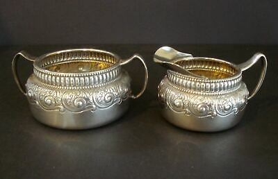 Antique Gorham ~ Sterling Silver ~ Creamer & Sugar Set