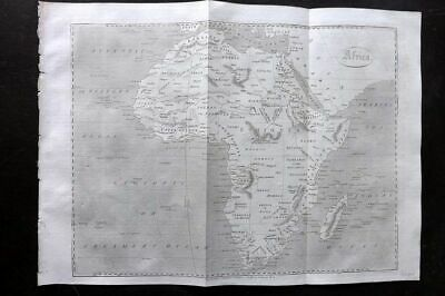 Encyclopaedia Perthensis 1816 Antique Map. Africa Continent