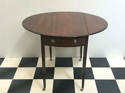 Antique Victorian mahogany drop leaf occasional table writing desk - Delivery