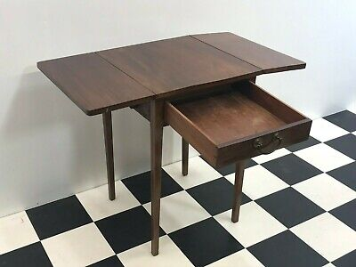 Antique Edwardian mahogany drop leaf occasional table writing desk - Delivery