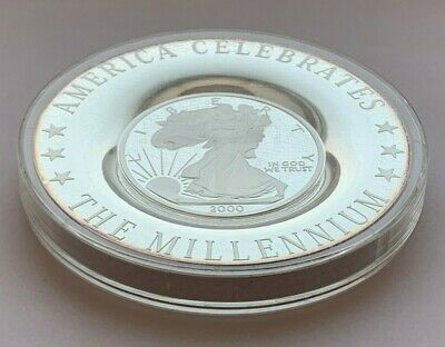 2000 The American Millennium Collector's Silver Coin Plate Limited Edition