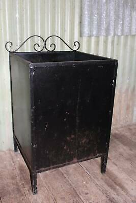 A Large Vintage Wrought Iron & Metal Firewood Box Stand