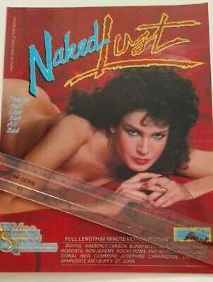 Kimberly Carson in Naked Lust Video  Promo Ad Slick Poster