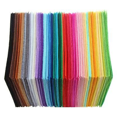 40pcs Assorted Soft Felt Fabric Sheets 10x10cm Squares for DIY Crafts Sewing Kit