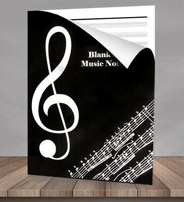 Music Manuscript Book Writing Note Paper Notebook 36 Pages 11 Staves per page