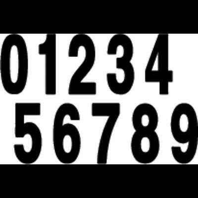 Factory Effex 02-4465 White 6 Standard Number Graphic