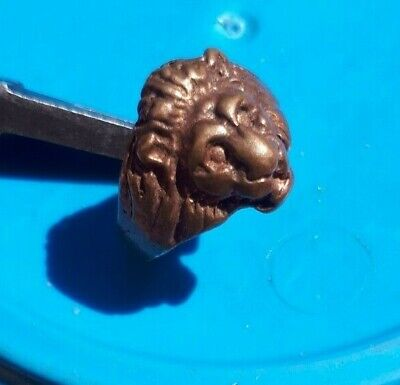 Rare Ancient Interesting Bronze Lion Ring Legionary Artifact Antique Original