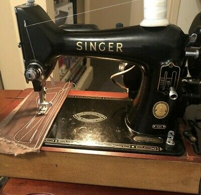 Singer Heavy Duty 99K Sewing M/c Pro. Serviced. See it Sew Leather on Youtube.