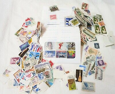 Lot of 100 USED CANADA STAMPS - All different