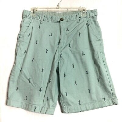 George Mint Green Mens Hula Girls Print Above The Knee Shorts Size 32