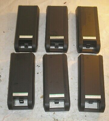 Lot of 6 Cassette Tape Holders w Carry Handles