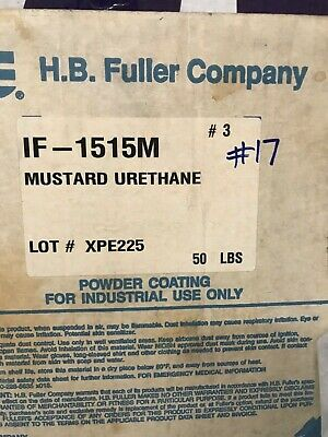 #17 Mustard Yellow Urethane Powder Coating Paint - New 1LB