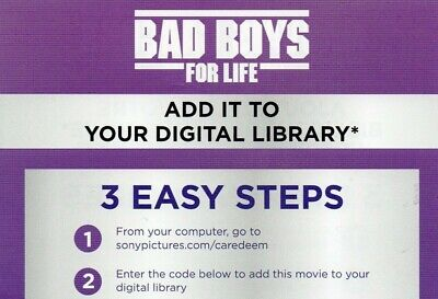 Bad Boys For Life (GOOGLE PLAY CODE) ****BRAND NEW**** WILL SMITH