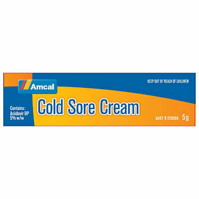 NEW Amcal Cold Sore Cream - 5 g