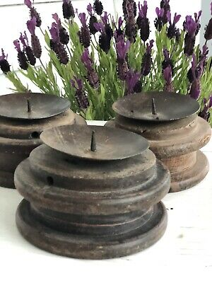 Antique Salvage Candle Holders
