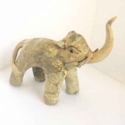 Happy Little Elephant Trunk Up Anatomically Correct Made from Leather