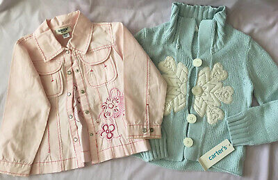 2 x Girl's Jackets Age 4/5 Years Oshkosh And Carters