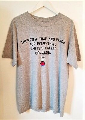 Vintage 1998 Logotel South Park Chef Tee in Gray Men's  Size Large  Pre-Owned