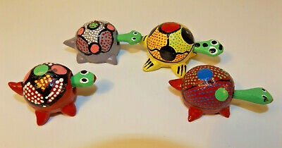 4 Little LOOSE NECK COLLECTION BOBBLE HEAD TURTLES