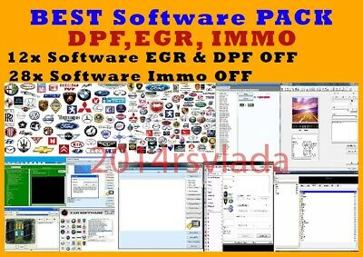 SOFTWARES pack for EGR & DPF OFF & IMMO OFF & virginize ecu