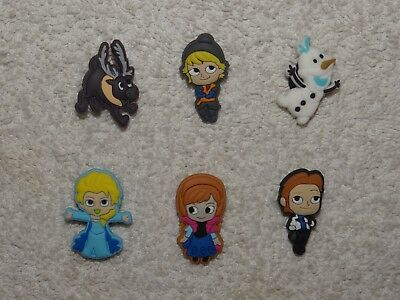 Disney Frozen Shoe Charms Plug Button Clogs Wristband Bracelet Accessories NEW