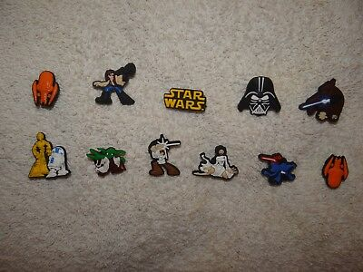 Star Wars Shoe Charms Plug Button Clogs Wristband Bracelet Accessories NEW