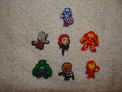 Avengers Shoe Charms Plug Button Clogs Wristband Bracelet Accessories NEW