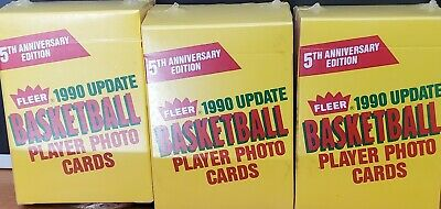 3 Boxes 1990 Fleer Update Basketball Player Photo Cards- Factory Sealed