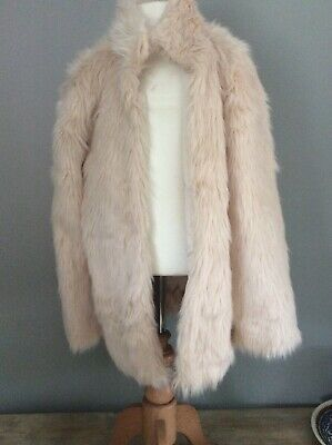M&S Girls Fur Jacket Age11/12 Yrs Cream Fur Summer Coat