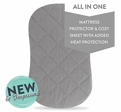 Jersey Cotton Quilted Waterproof Hourglass and Oval Bassinet Sheet all in one...