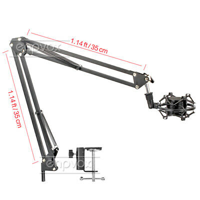 Suspension Boom Arm Microphone Stand + Shock Mount For Rode NT1000 NT1A Kit NT2A