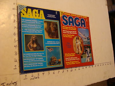 Vintage UFO info: 2 issues of SAGA ufo bermuda triangle & ufo enigma