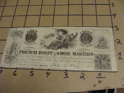 Orig. Vint. FRENCH BOOT & SHOE MAKERS - EARLY PAPER