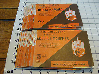 BAND BOOKS: 17 BANDMASTERS FOLIO OF COLLEGE MARCHES many instruments