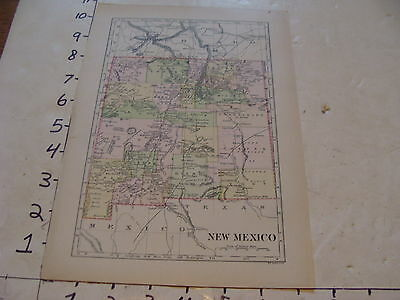 vintage map NEW MEXICO